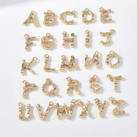 Gold Patterned Initial Letters