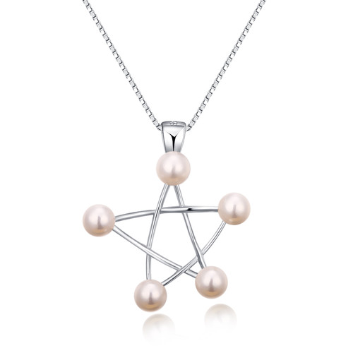 Shining Like a Star Pearls Pendant in Sterling Silver