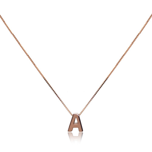 Personalised Initial Pendant, Rose Gold Vermeil