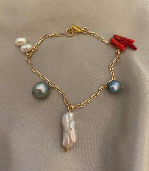 Sea Treasure Charm Chain Bracelet