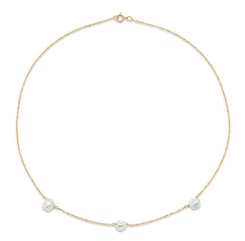 Keshi Pearl Chain Choker Necklace