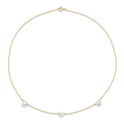 Keshi Pearl Chain Choker Necklace