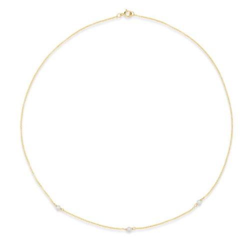 Ella Petite Pearl Chain Choker Necklace