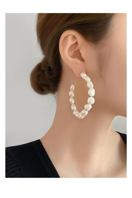 Naomi Large Baroque Pearl Earrings