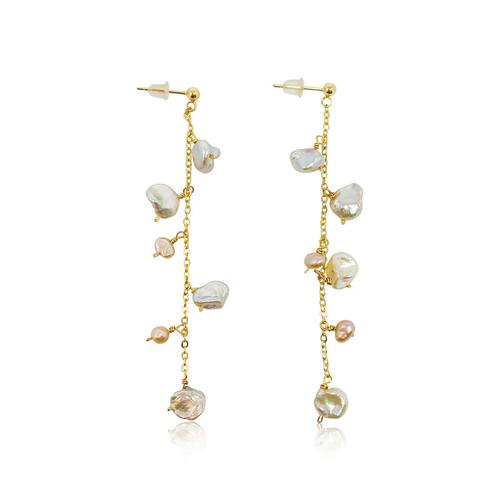 Isla Keshi Pearl Drop Earrings