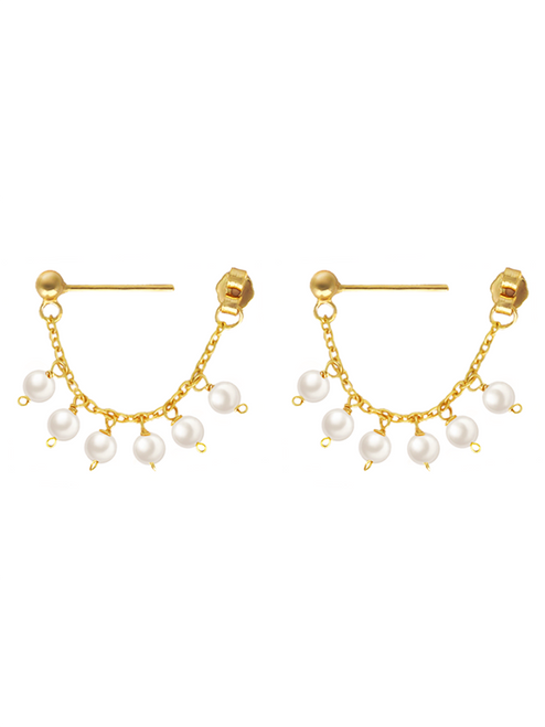 Chole Dainty Pearl Droplet Earrings