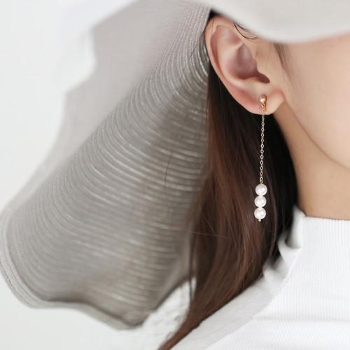 Harper Mismatched Pearl Drop Earrings