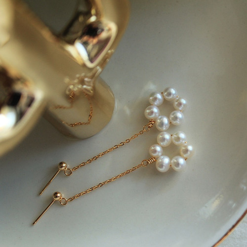 Flora Pearl Drop Earrings