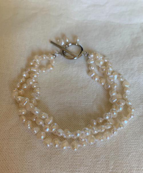 Cora Baby Baroque Pearl Triple Strand Bracelet