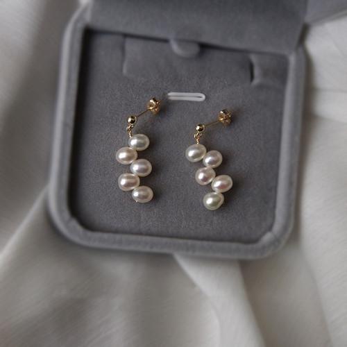 Vivian Oval Pearl Drop Earrings