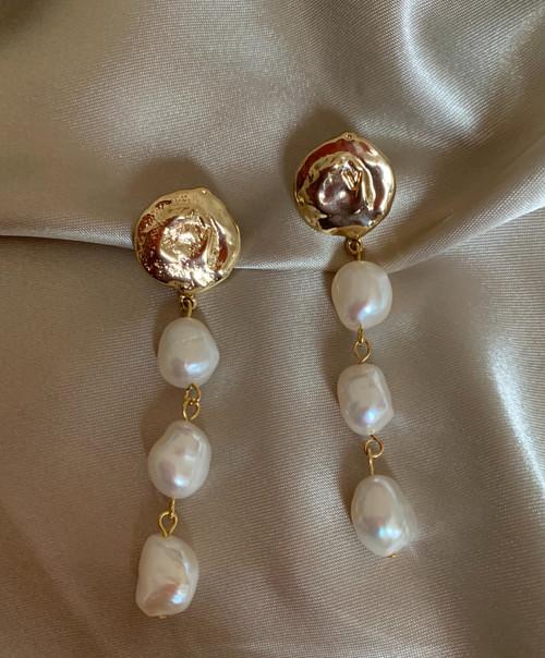 Victoria Baroque Pearl Drop Earrings