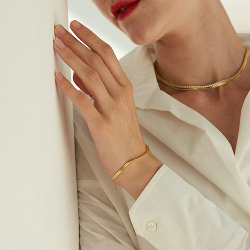 Gold Snake Chain Bracelet
