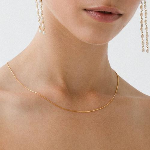 Thin Snake Chain Choker Necklace