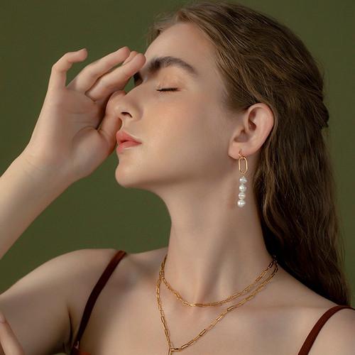 Sienna Keshi Pearl Paper Clip Drop Earrings