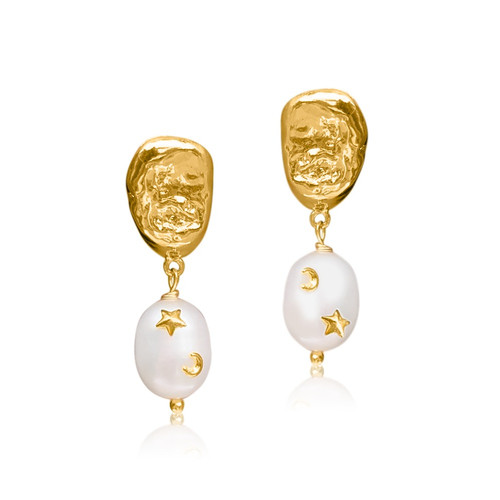 Astra Large Pearl Drop Earrings