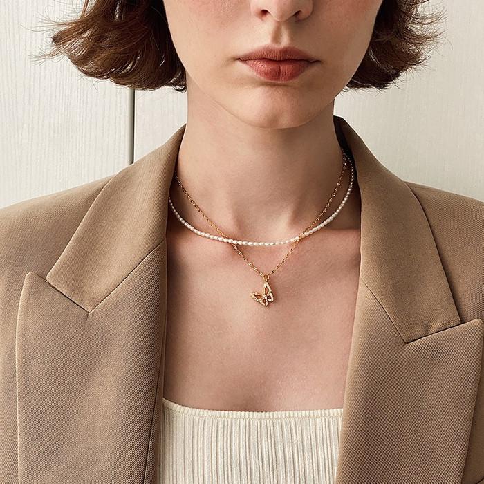 Dainty Pearl Choker Necklace