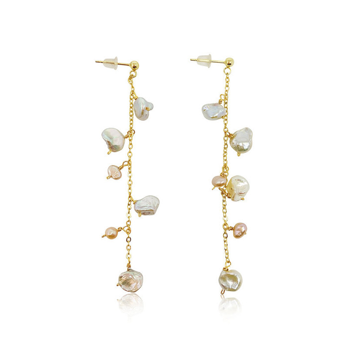 Isla Keshi Pearl Drop Earrings