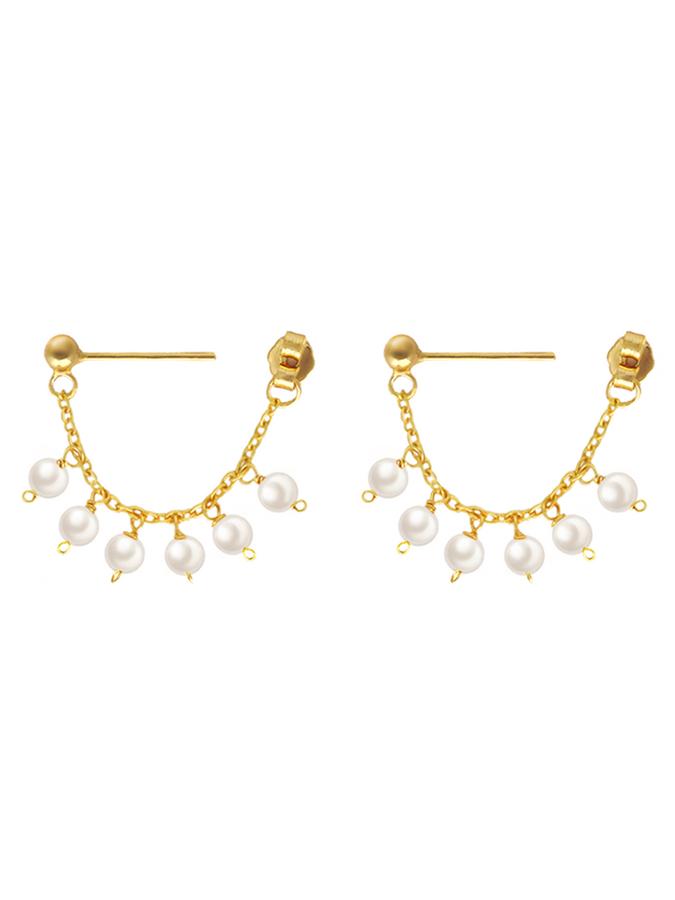 Chole Dainty Pearl Droplet Earrings