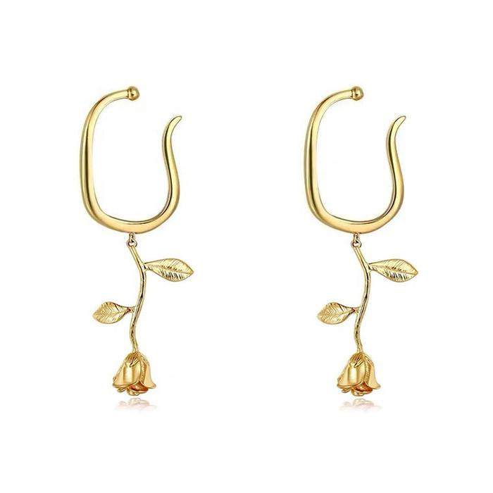 Gold Rose Ear Cuff