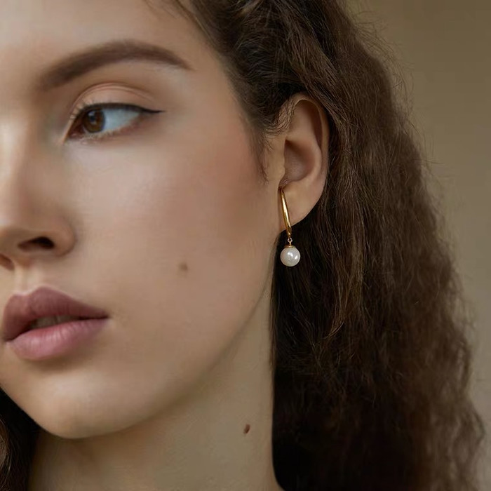 Selena Pearl Ear Gold Cuffs