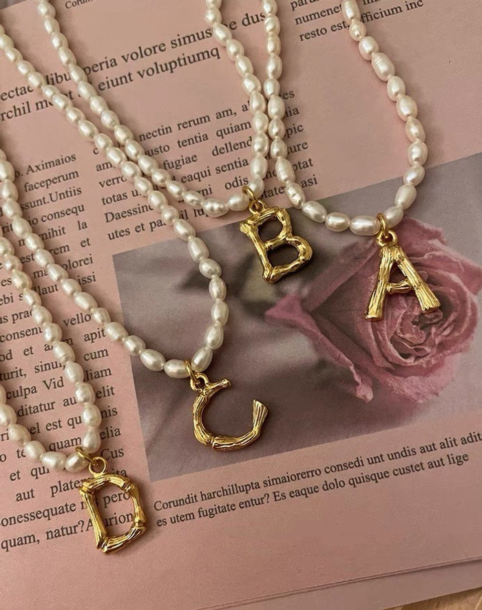 Personalise Dainty Pearl Choker Necklace