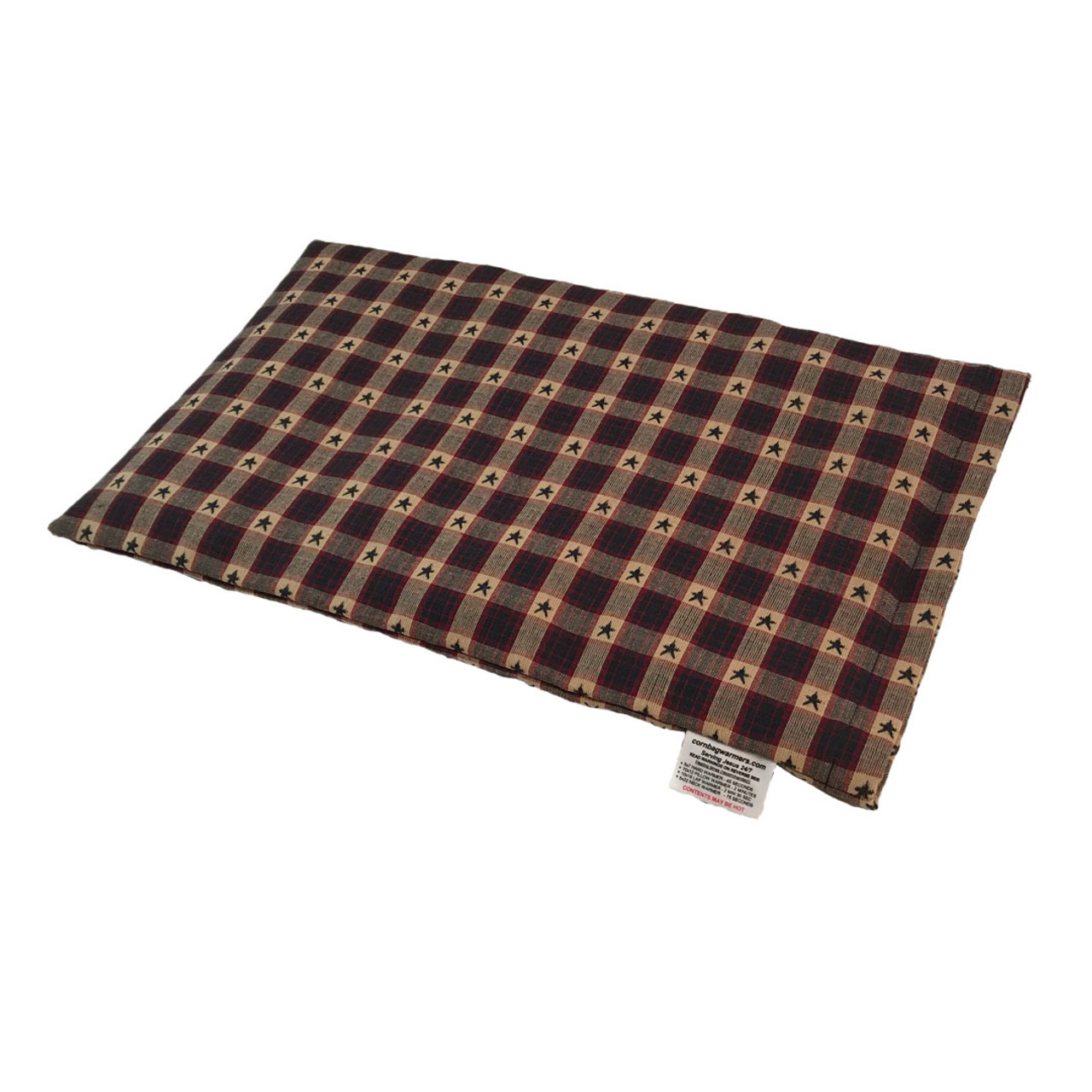 Patriotic Stras Lap Cornbag Warmer - Corn Filled Microwave Heating Pad