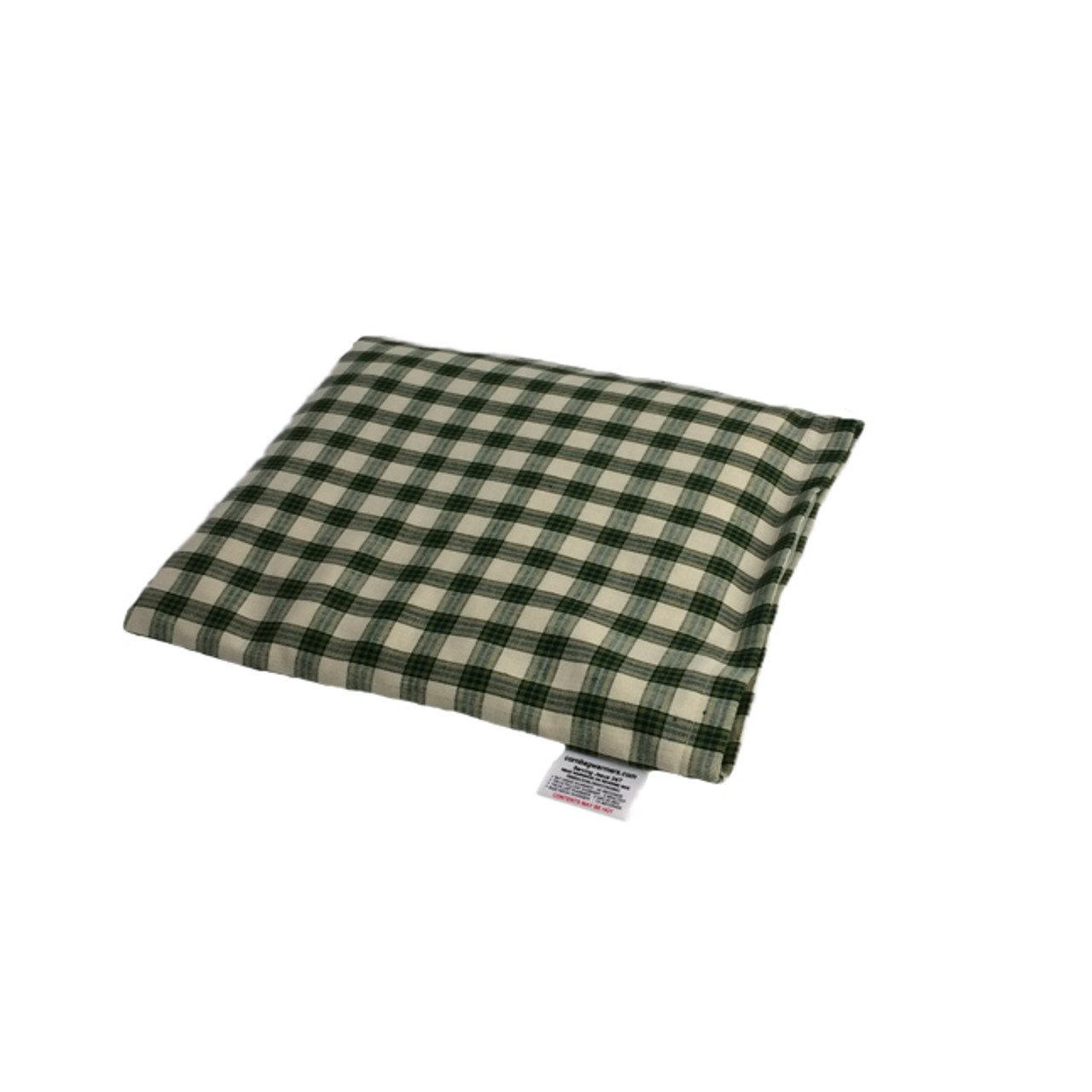 Plaid- Green Pillow Warmer Microwave Heating Pad