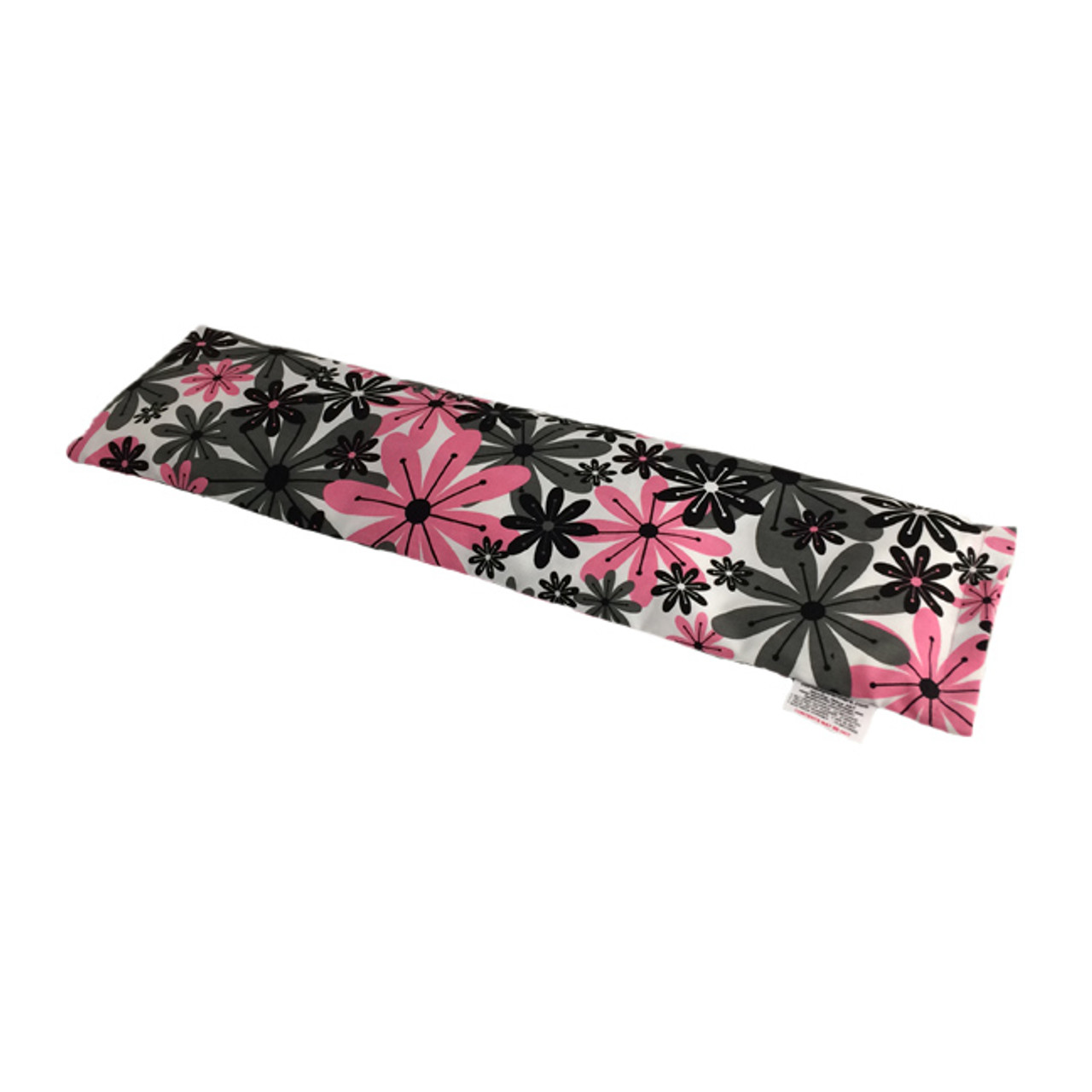 Pink and Gray Flowers Neck Warmer Microwave Heating Pad