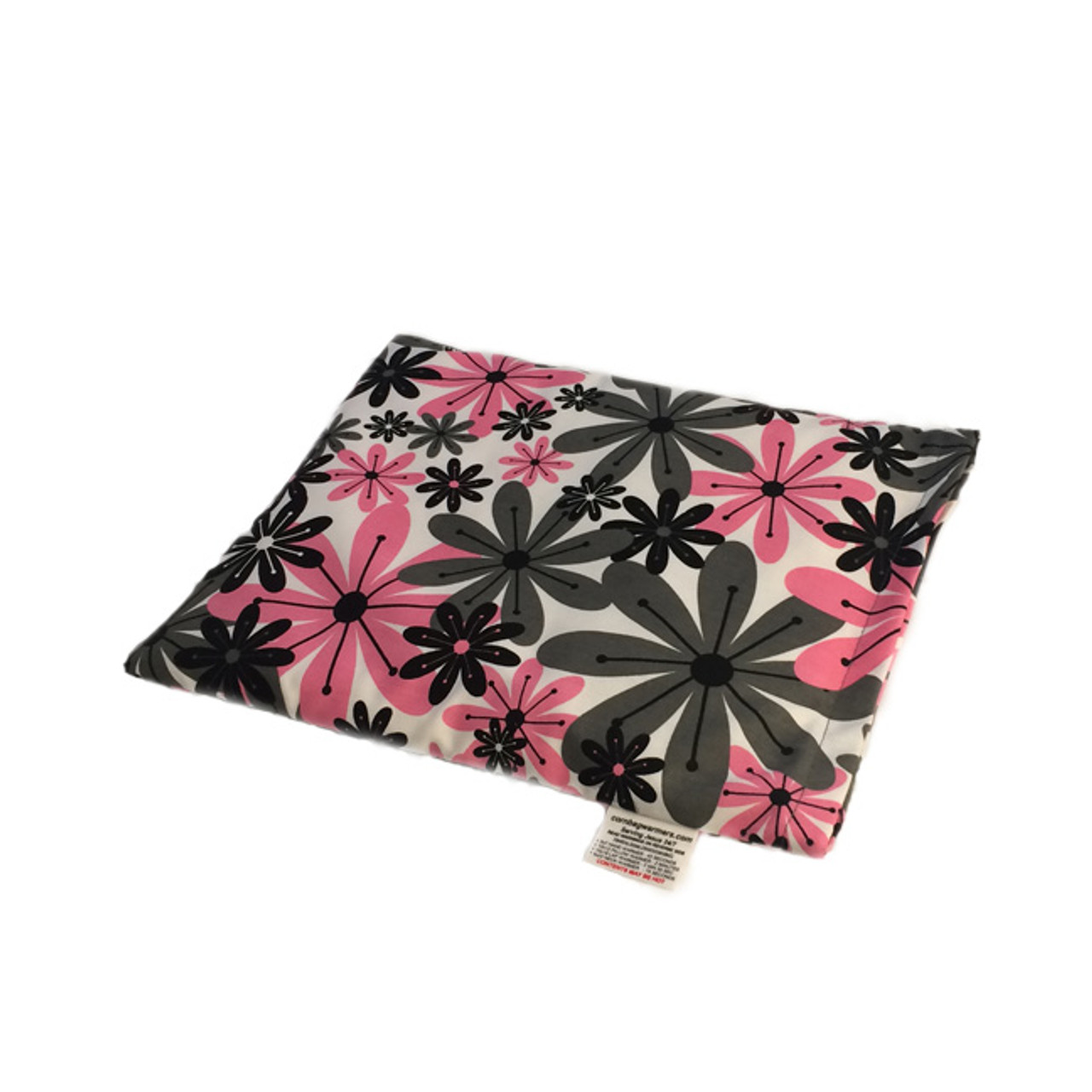 Pink and Gray Flowers Pillow Warmer Microwave Heating Pad