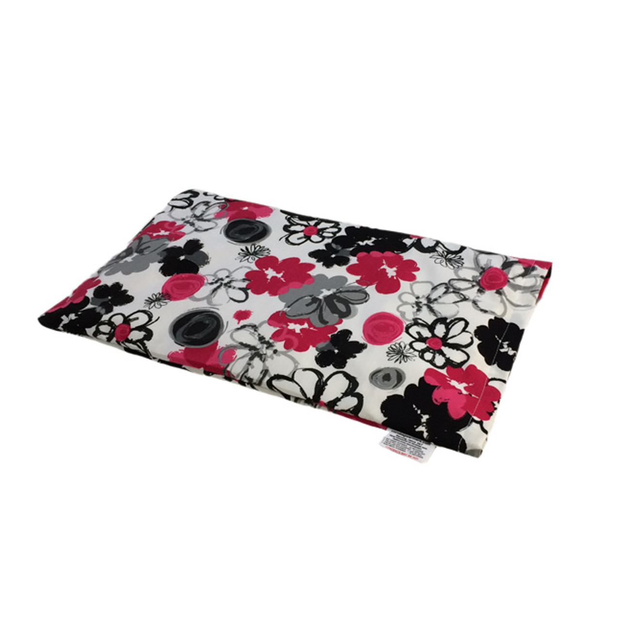 Black and Pink Bouquet Lap Warmer Microwave Heating Pad