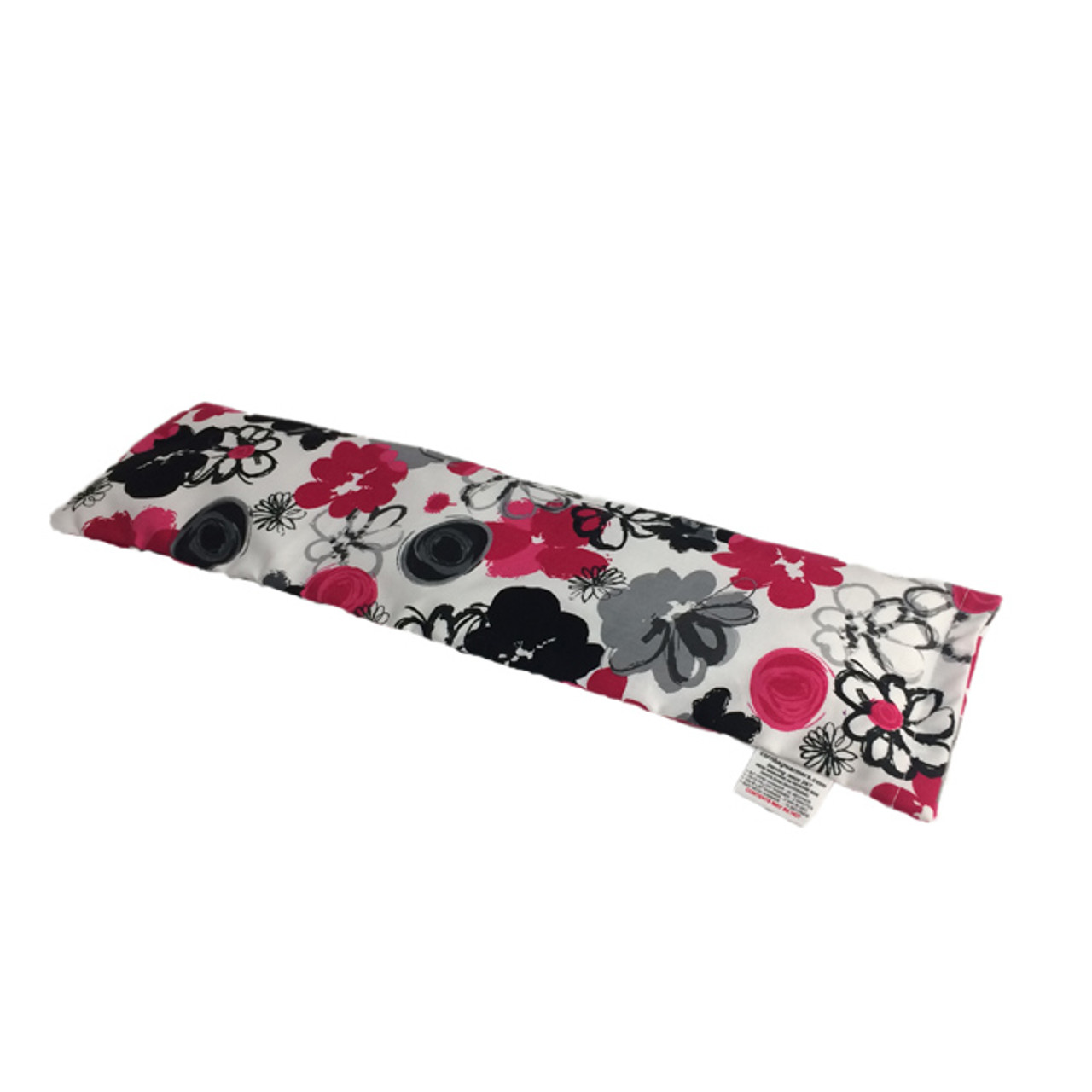 Black and Pink Bouquet Neck Warmer Microwave Heating Pad
