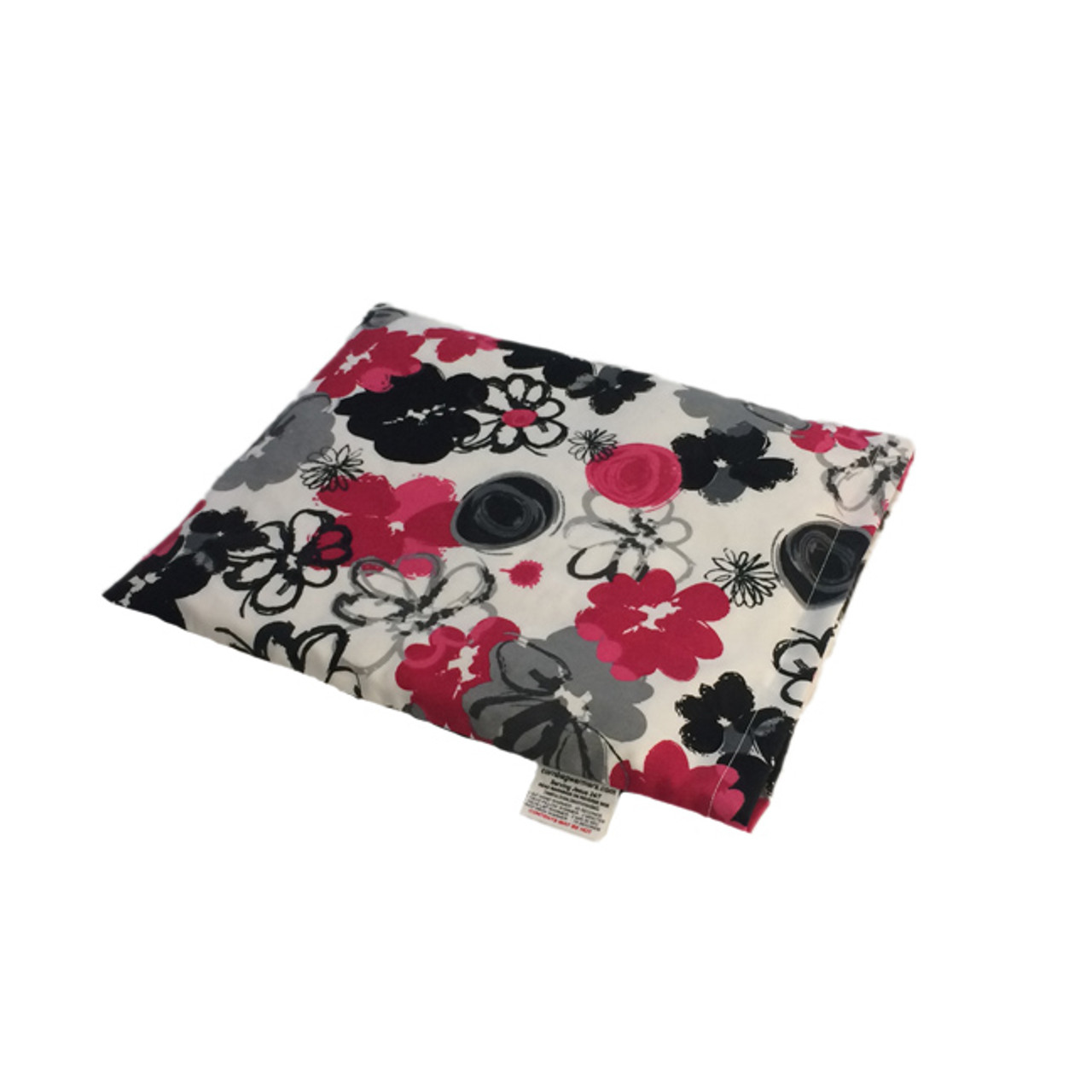 Black and Pink Bouquet Pillow Warmer Microwave Heating Pad