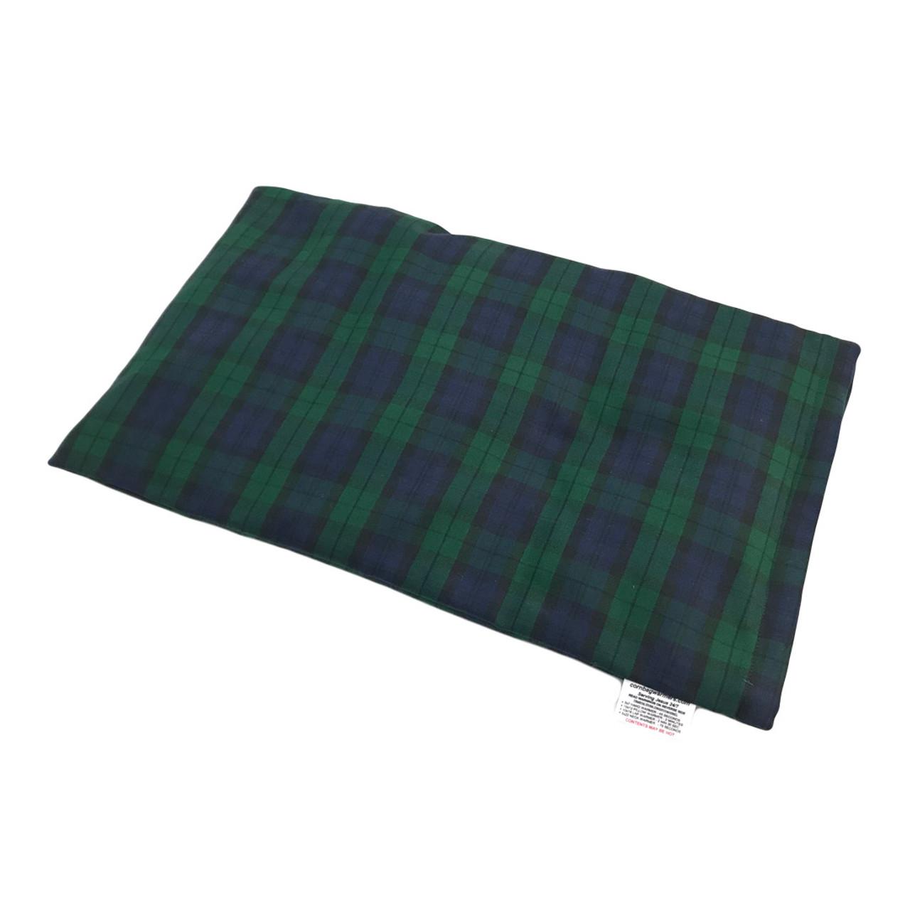 Deep Blue and Green Plaid Neck Warmer Microwaveable Corn Heating Pad