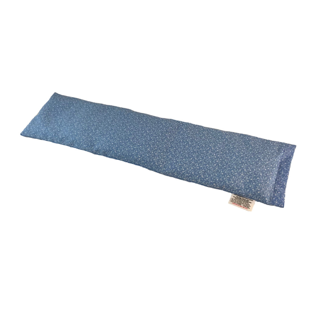 Flowers-Light Blue With Hearts Neck Cornbag Warmer - Corn Filled Microwave Heating Pad