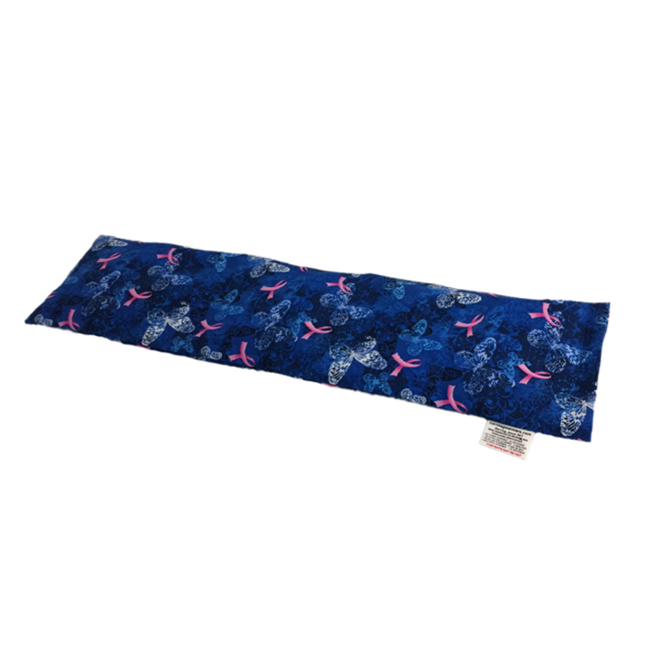 Butterflies- Blue Breast Cancer Awareness Neck Warmer Microwave Heating Pad