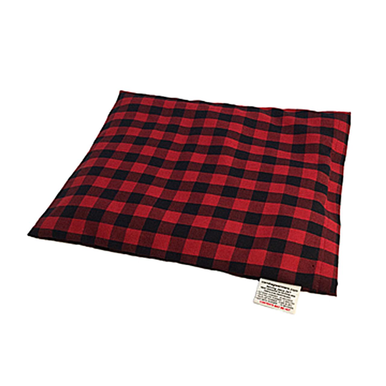 Deep Red & Black Plaid Pillow Warmer Microwave Heating Pad