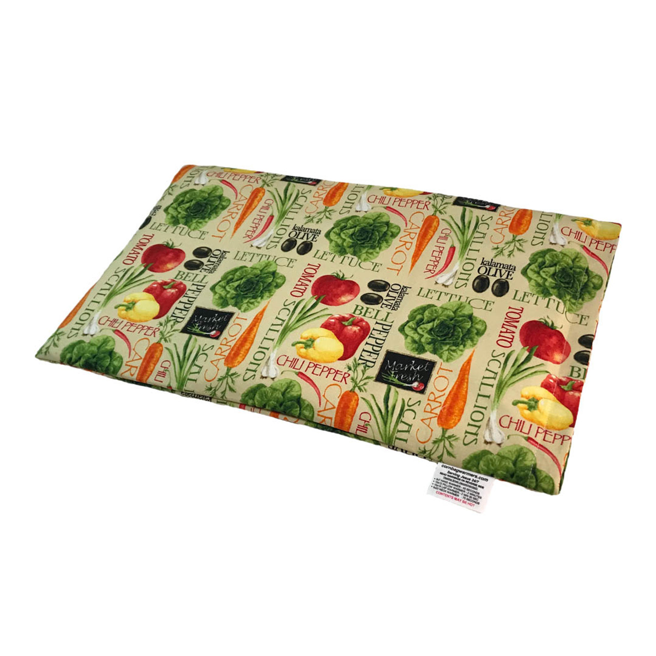 Garden Veggies Lap Cornbag Warmer - Corn Filled Microwave Heating Pad