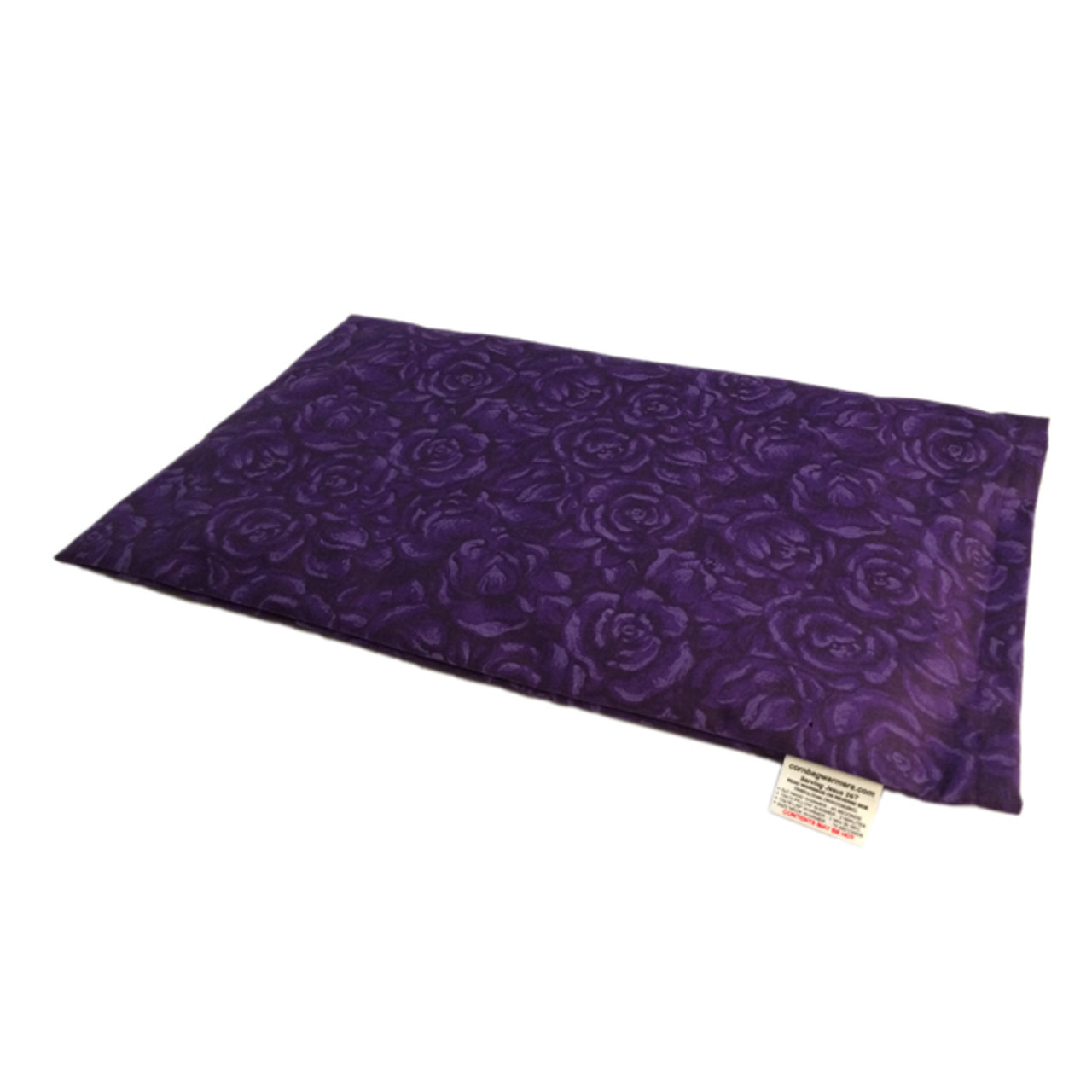 Lap Warmer Microwave Corn Heating Pad - Deep Purple Roses