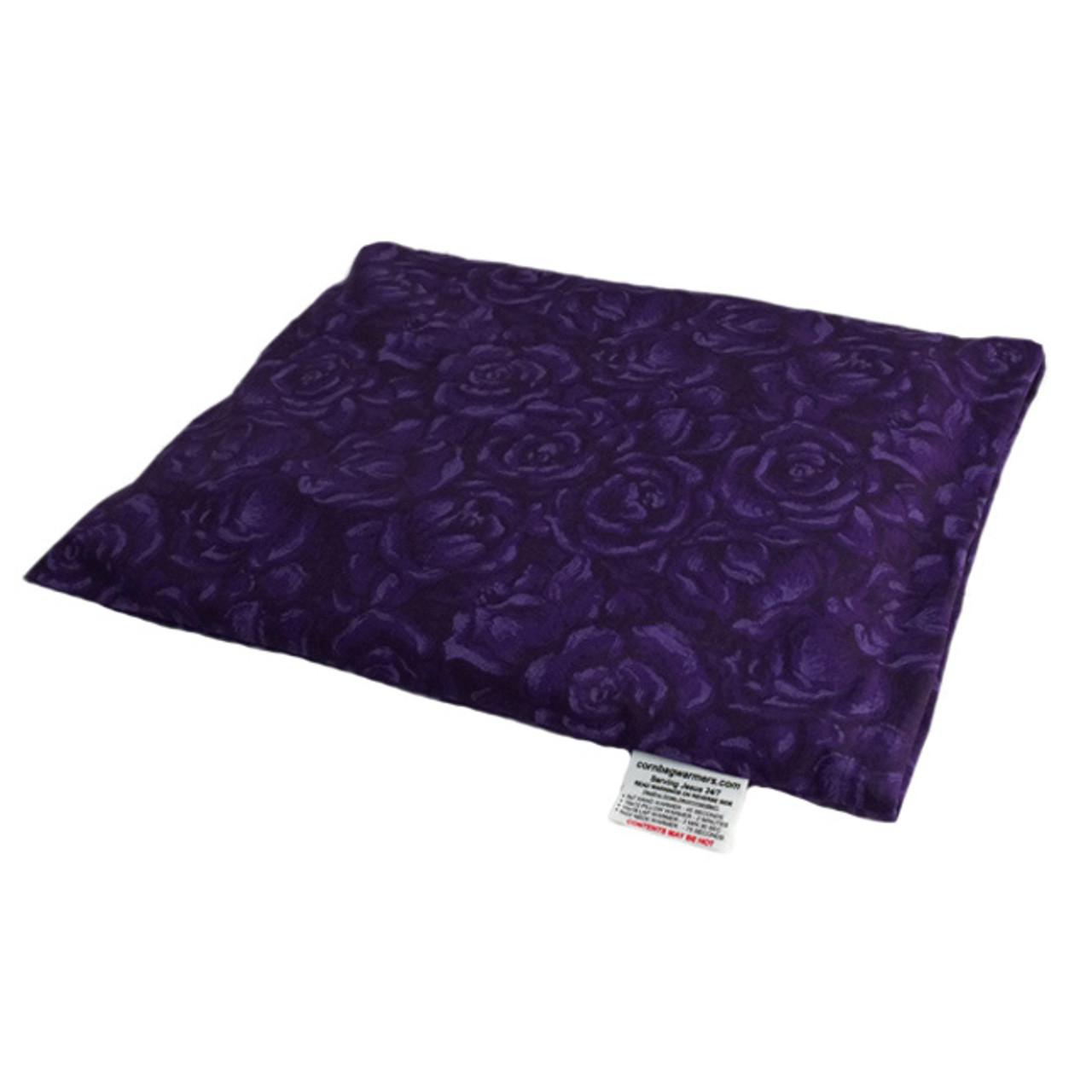 Deep Purple Roses Pillow Warmer Microwave Heating Pad