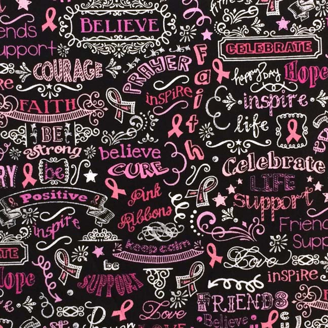 Chalkboard of Hope Breast Cancer Awareness pattern for your microwave corn heat pad