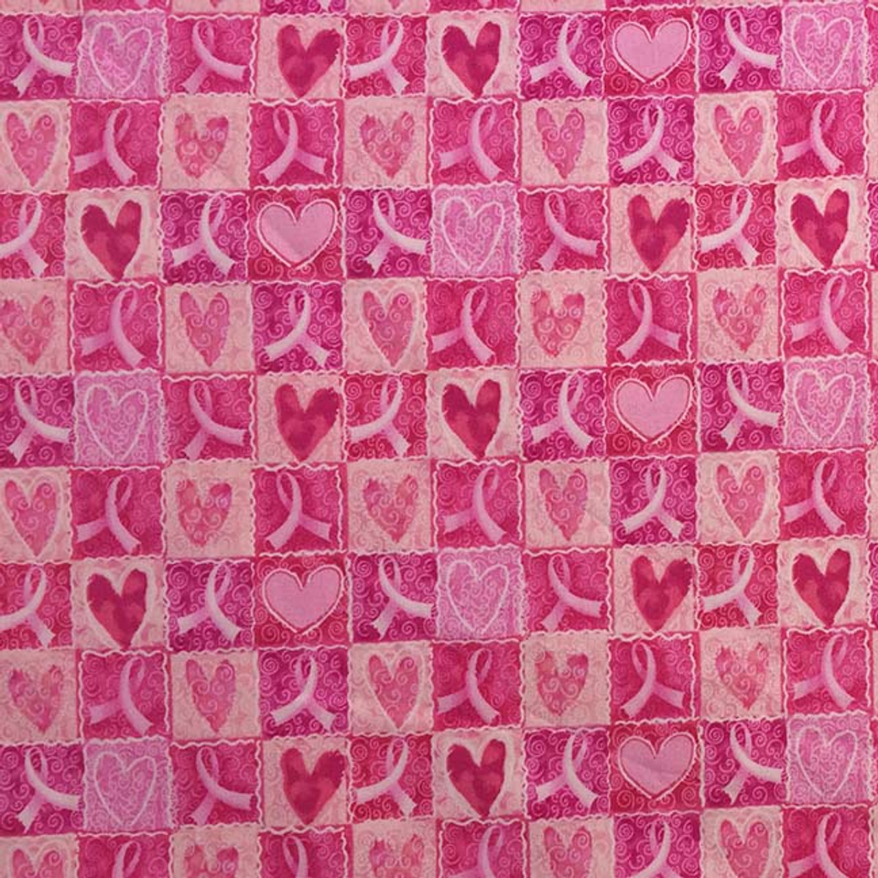 Pretty Pink Hearts and Ribbons on a Pink background - Outer Cover for your Microwave Corn Bag Heating Pad. Breast cancer awareness.