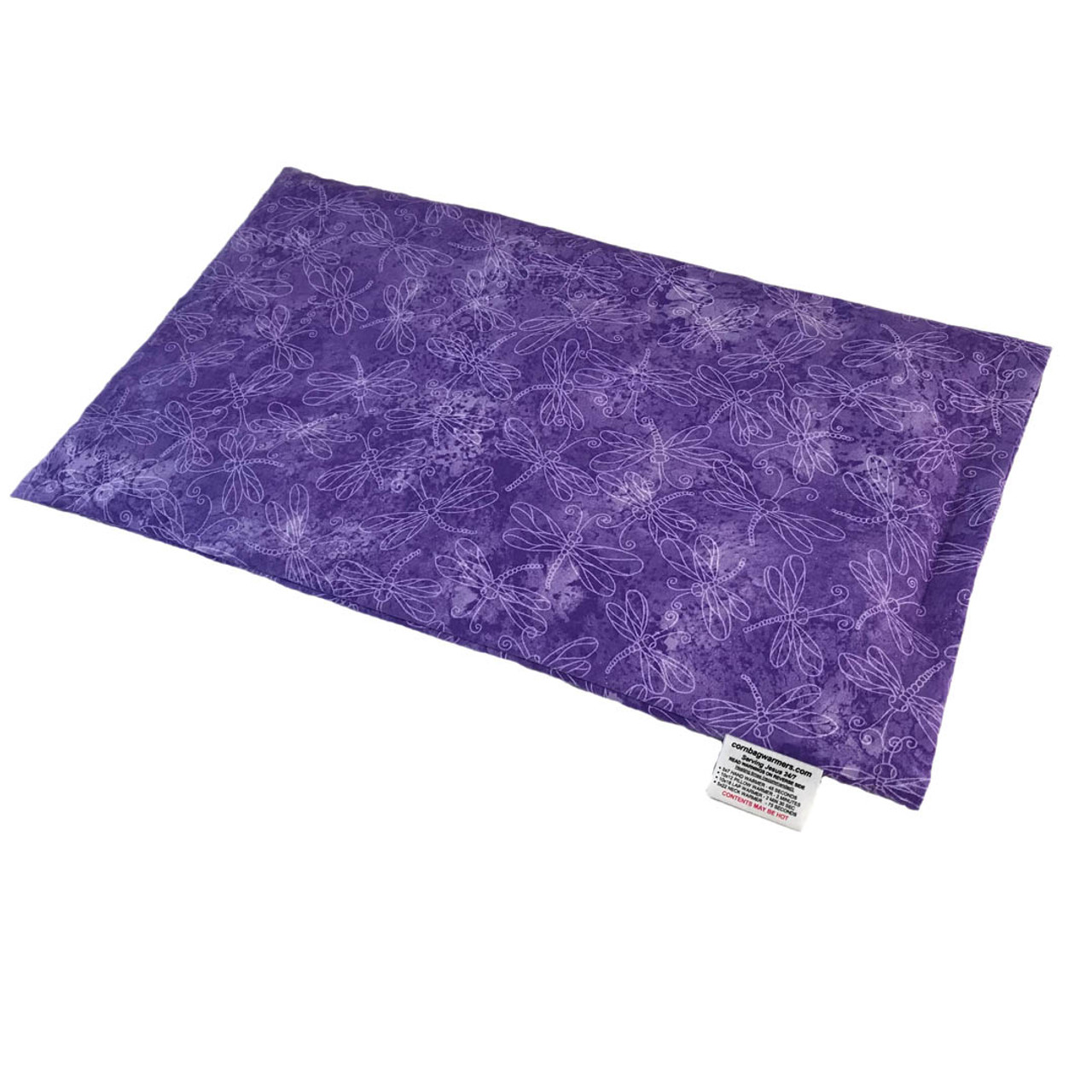 Purple Sundrenched Dragonflies Lap Cornbag Warmer - Corn Filled Microwave Heating Pad