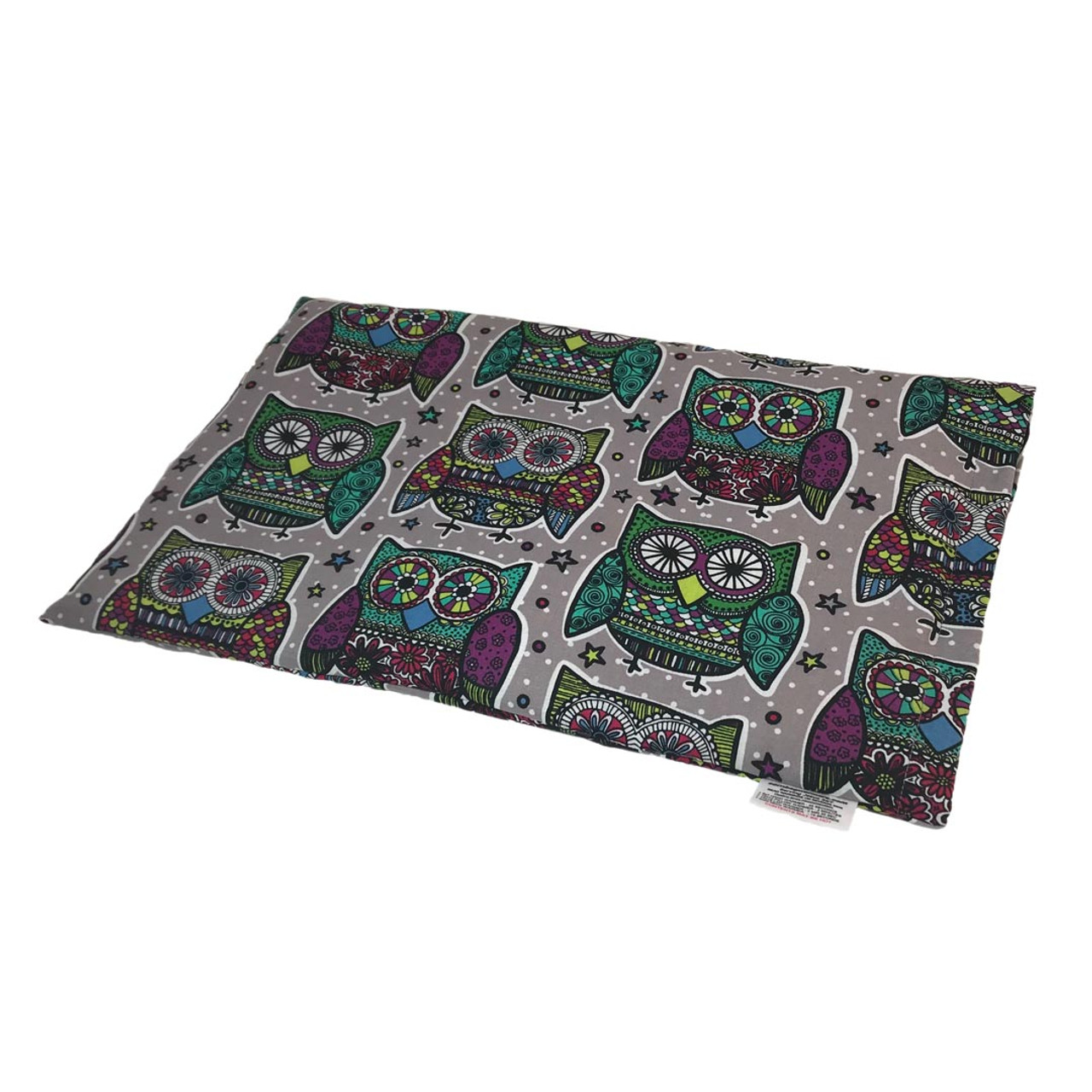 Kaleidoscope Owls Lap Microwaveable Corn Heating Pad