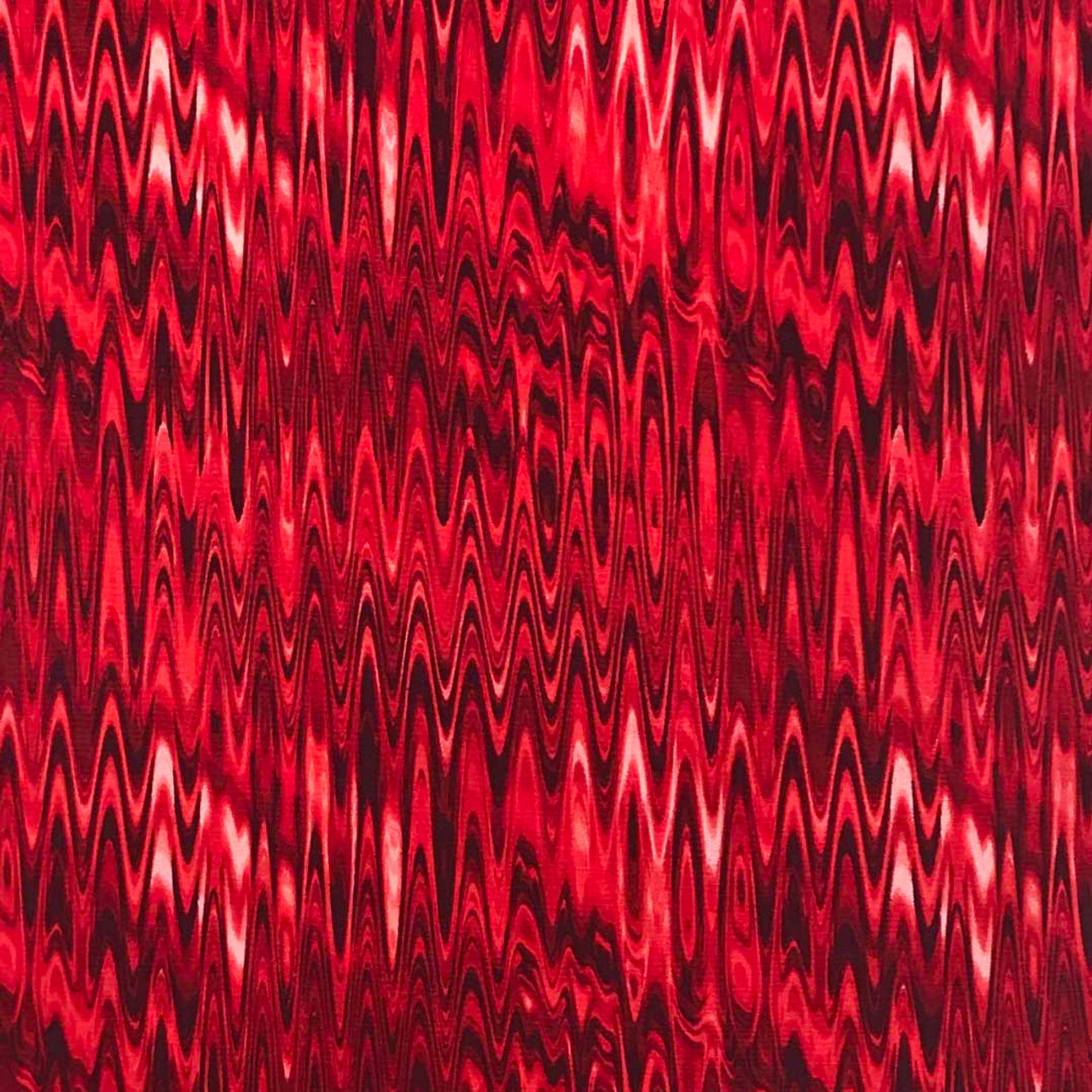 A red series of Waves for your Corn Filled Microwave Heating Pad