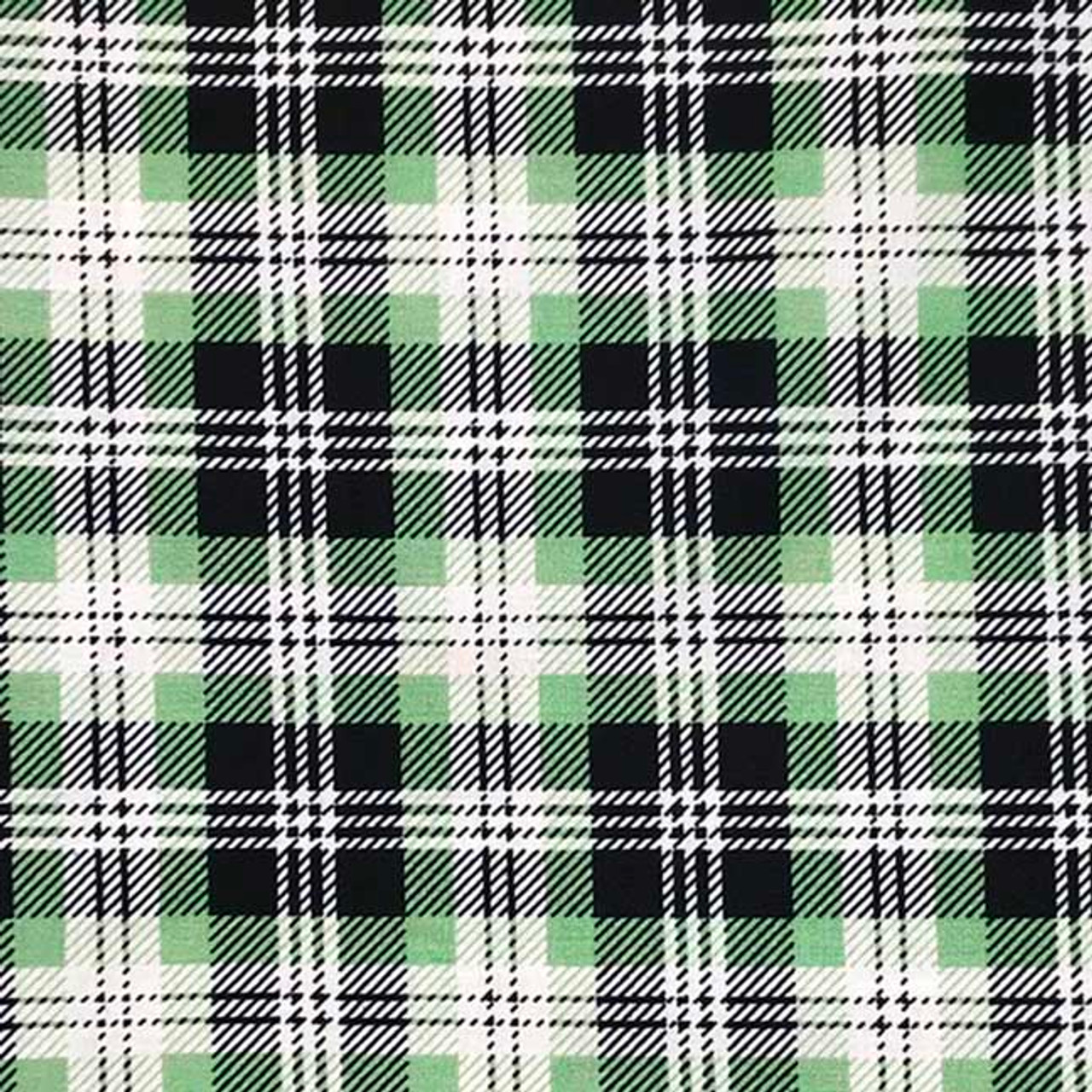 Plaid - Light Green and Black