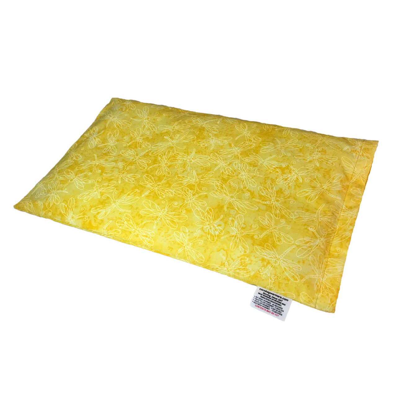 Golden Dragonflies Lap Cornbag Warmer - Corn Filled Microwave Heating Pad