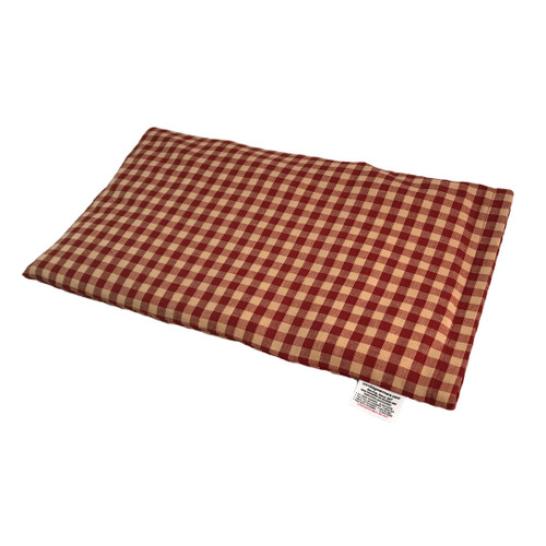 Plaid-Burnt Orange And Yellow Lap Cornbag Warmer - Corn Filled Microwave Heating Pad
