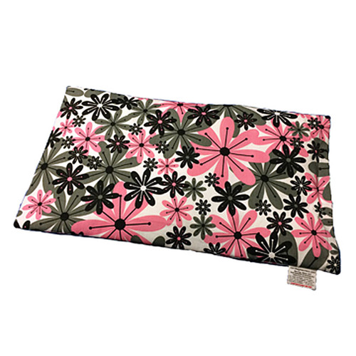 Lap Warmer Microwaveable  Corn Heating Pad - Pink and Gray Flowers