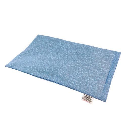Flowers-Light Blue With Hearts Lap Cornbag Warmer - Corn Filled Microwave Heating Pad