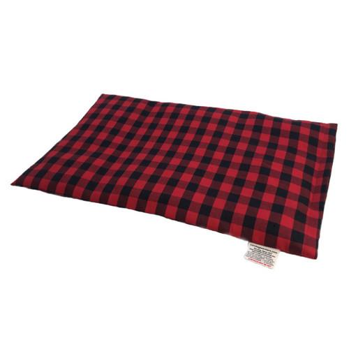 Deep Red & Black Plaid Lap Warmer Microwave Heating Pad